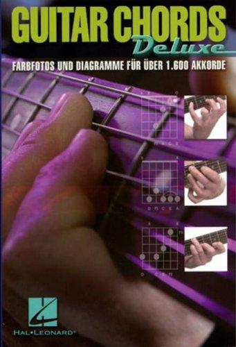 Guitar Chords Deluxe (Dt). Gitarren Grifftabelle mit Farbfotos und Diagramme für über 1600 Akkorde - Div