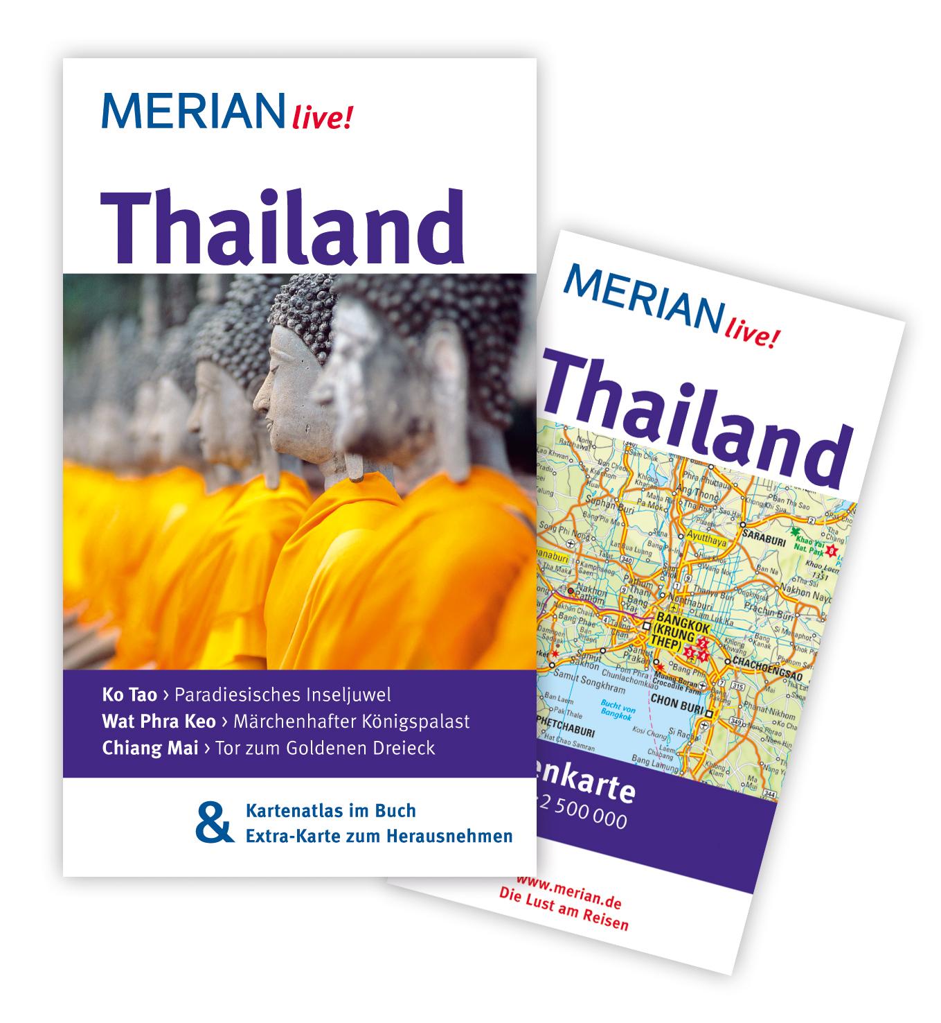 Thailand: Mit Kartenatlas im Buch und Extra-Kar...