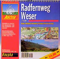 Geführte Radtouren: Radfernweg Weser. 1 : 75 000.