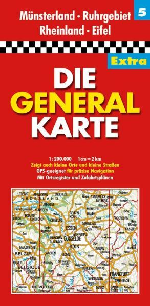 Die Generalkarte Extra Münsterland, Ruhrgebiet,...