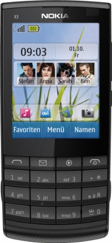 Nokia X3-02 Touch and Type dark metal