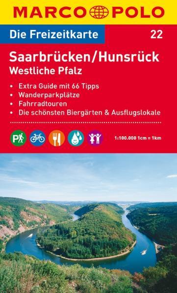 MARCO POLO Freizeitkarte 22 Saarbrücken / Hunsrück / Westliche Pfalz 1 : 100 000