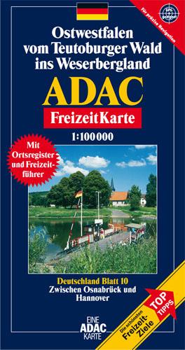 ADAC FreizeitKarte, Bl.10, Ostwestfalen vom Teu...