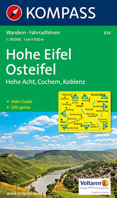 Hohe Eifel - Osteifel: Wander- und Bikekarte. H...