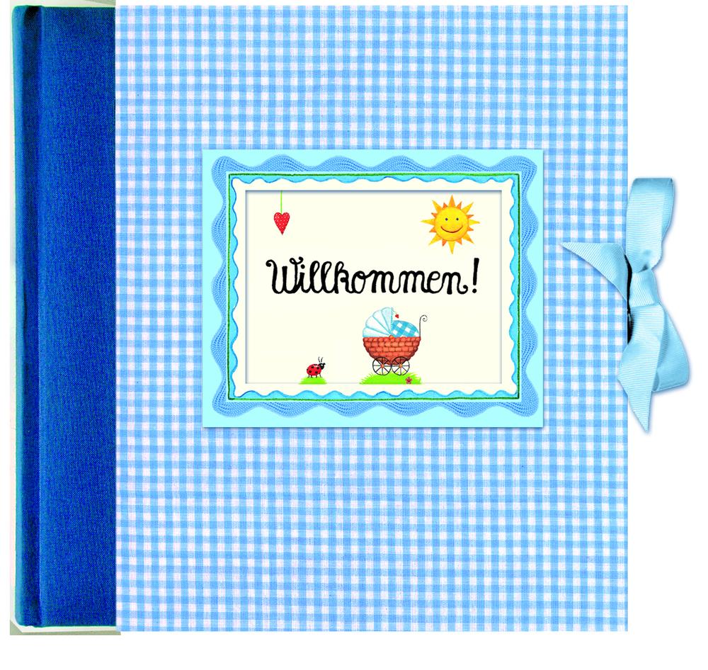 Willkommen! Babyalbum blau - Anne Mußenbrock