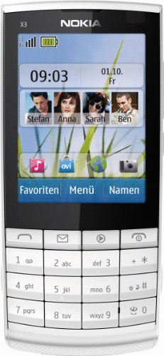Nokia X3-02 Touch and Type white silver