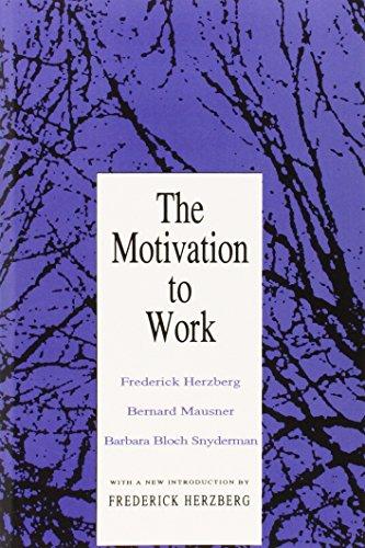 Motivation to Work (Ppr) - Bernard Mausner