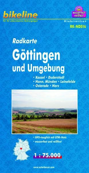 Radkarte Göttingen u. Umgebung 1:75.000, wasserfest und reißfest, GPS-tauglich mit UTM-Netz - Esterbauer