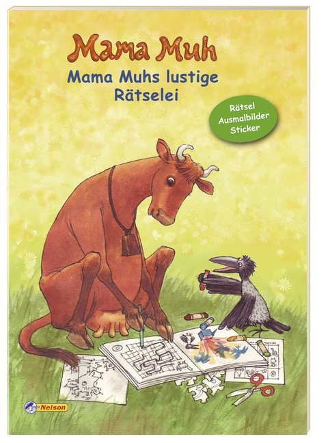 Mama Muh - Mama Muhs lustige Rätselei: Rätsel, Ausmalbilder, Sticker: Sticker Malbuch - Claudia Albrecht