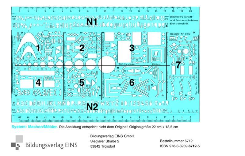 Schrift- und Zeichenschablone Elektrotechnik - Elektronik: Alle wichtigen Symbole der Elektrotechnik, Elektronik, Digita