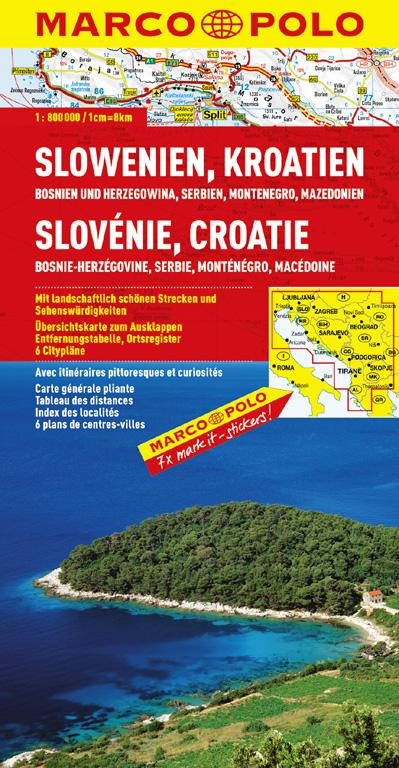 MARCO POLO Länderkarte Slowenien/Kroatien/Bosni...
