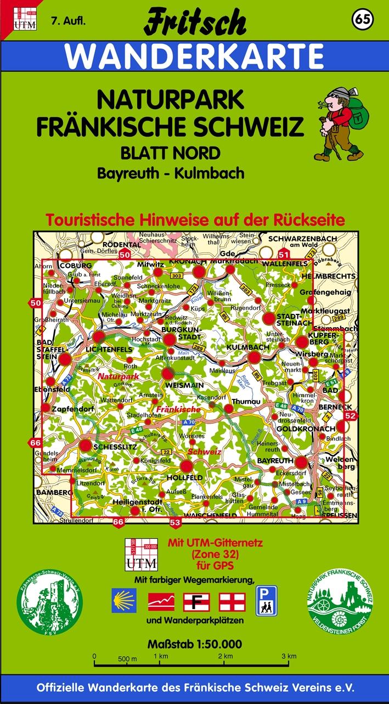 Fritsch Karten - Nr.65: Naturpark Fränkische Sc...