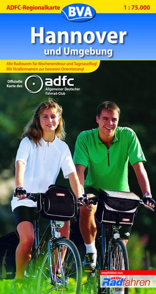 ADFC-Regionalkarte Hannover und Umgebung 1 : 75...