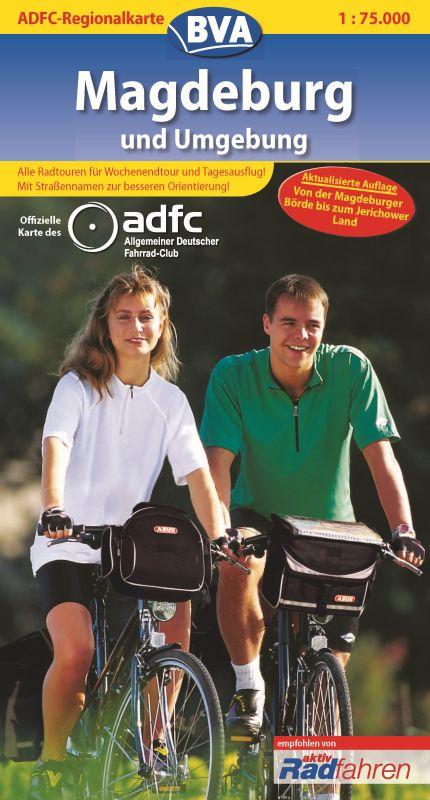 ADFC-Regionalkarte Magdeburg und Umgebung 1 : 7...