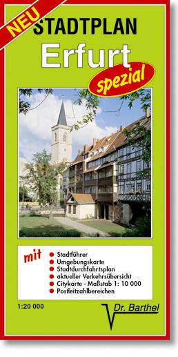 Erfurt-spezial Stadtplan 1 : 20 000: mit hochwe...