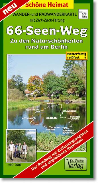 66-Seen-Weg um Berlin 1 : 50 000: Zu den Naturs...