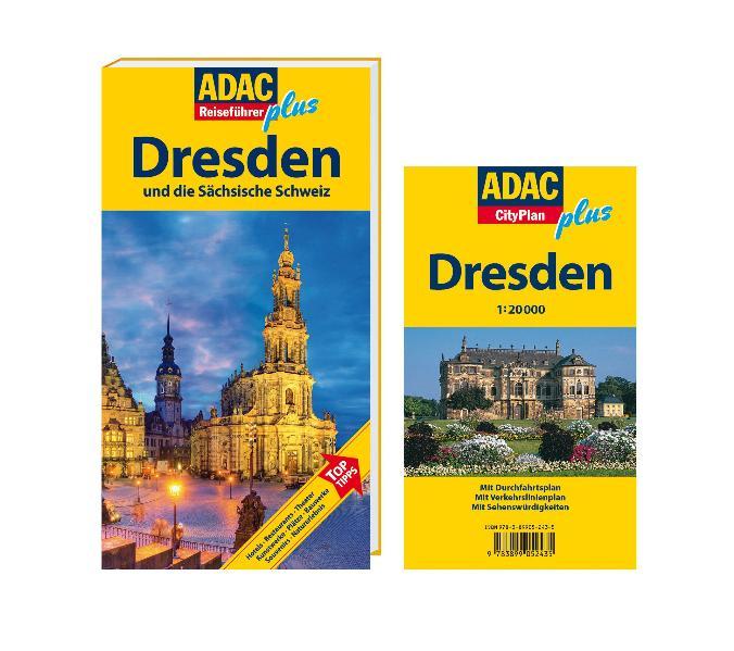 ADAC Reiseführer plus Dresden: Mit extra Karte zum Herausnehmen: und die Sächsische Schweiz - Axel Pinck