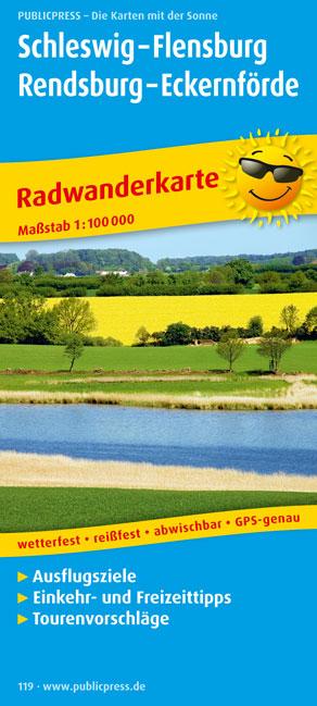 Radwanderkarte Schleswig - Flensburg - Rendsbur...