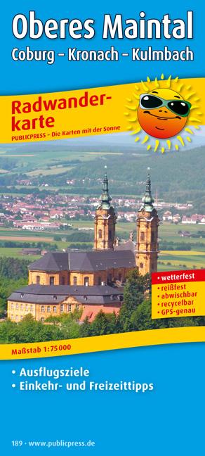 Radwanderkarte Oberes Maintal, Coburg - Kronach...