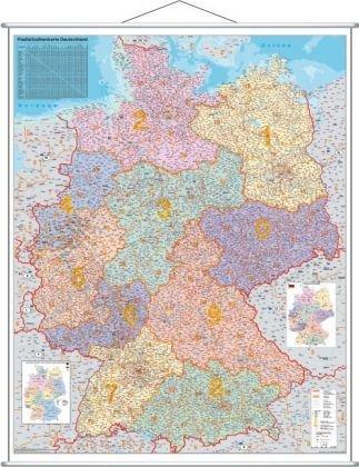 Deutschland Postleitzahlenkarte - Stiefel Eurocart