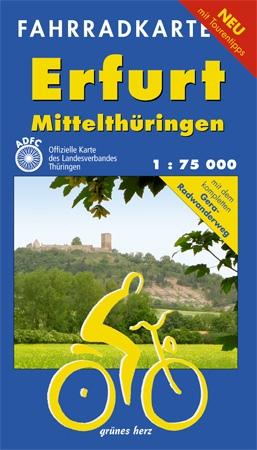 Erfurt - Mittelthüringen 1 : 75 000 Fahrradkart...