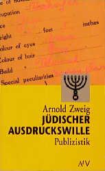 Aufbau Taschenbücher, Bd.64, Jüdischer Ausdruckswille - Arnold Zweig