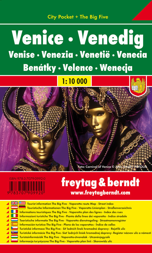 Freytag Berndt Stadtpläne, Venedig, City Pocket + The Big Five, wasserfest - Maßstab 1:10 000 - Freytag-Berndt und Artaria KG