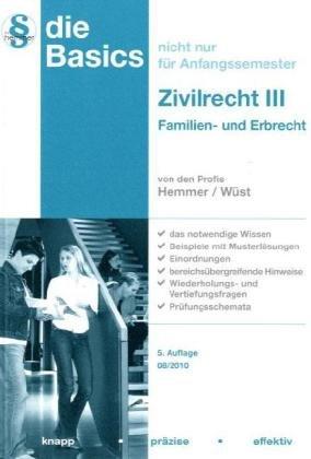 Basics Zivilrecht III: Familien- und Erbrecht - Karl Edmund Hemmer