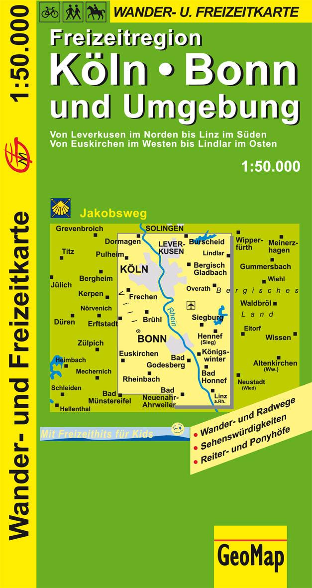 GeoMap Karten, Köln, Bonn und Umgebung: Wander-...