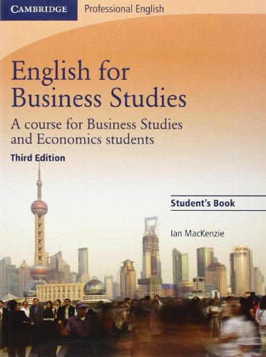 English for Business Studies: A Course for Business Studies and Economics Students (Cambridge Professional English) - Ia