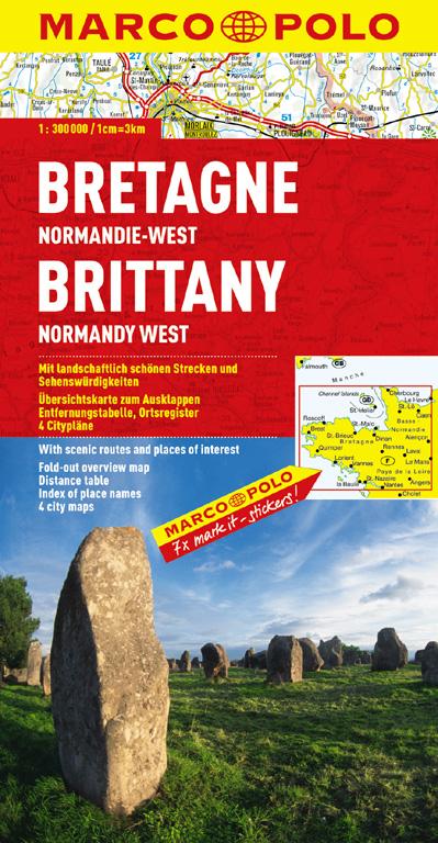 Frankreich. 1:300000: MARCO POLO Regionalkarte Bretagne/Normandie-West: TEIL 2 - Mairdumont