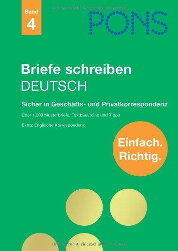 PONS Briefe schreiben Deutsch: Sicher in Geschä...