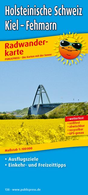 Radwanderkarte Holsteinische Schweiz, Kiel - Fe...