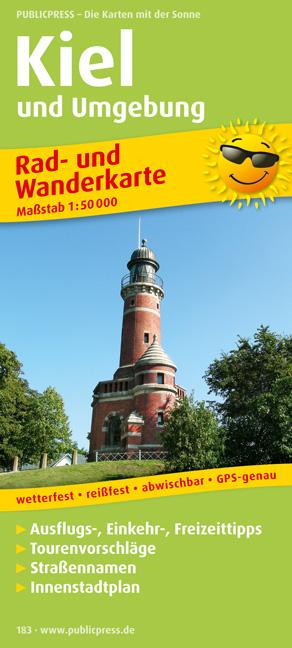 Rad- und Wanderkarte Kiel und Umgebung: Mit Aus...