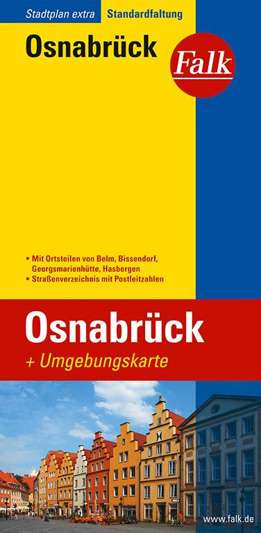 Falk Stadtplan Extra Standardfaltung Osnabrück