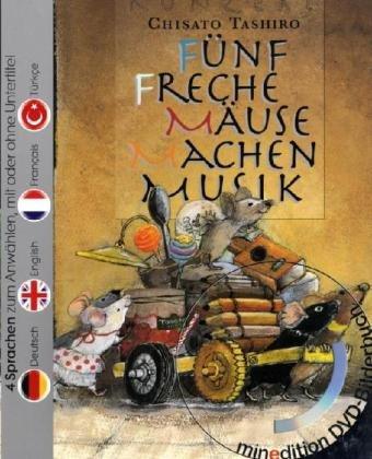Fünf freche Mäuse machen Musik (Buch mit DVD) -...