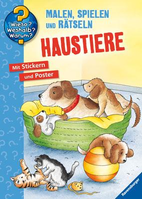 Malbuch Haustiere: Malen, Stickern, Erstes Lernen