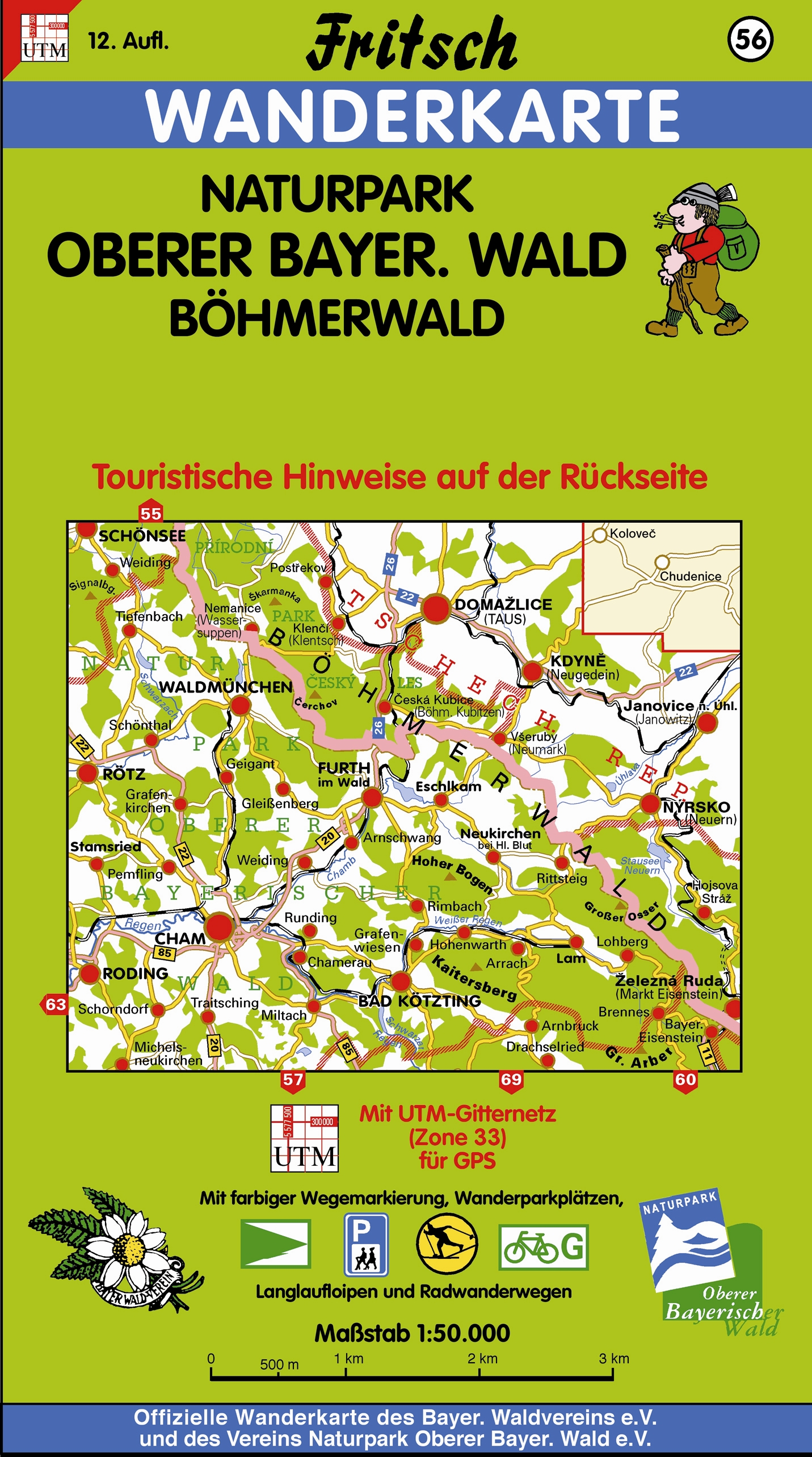 Fritsch Karten, Nr.56, Naturpark Oberer Bayeris...