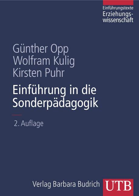 Einführung in die Sonderpädagogik (Uni-Taschenbücher L) - Günther Opp