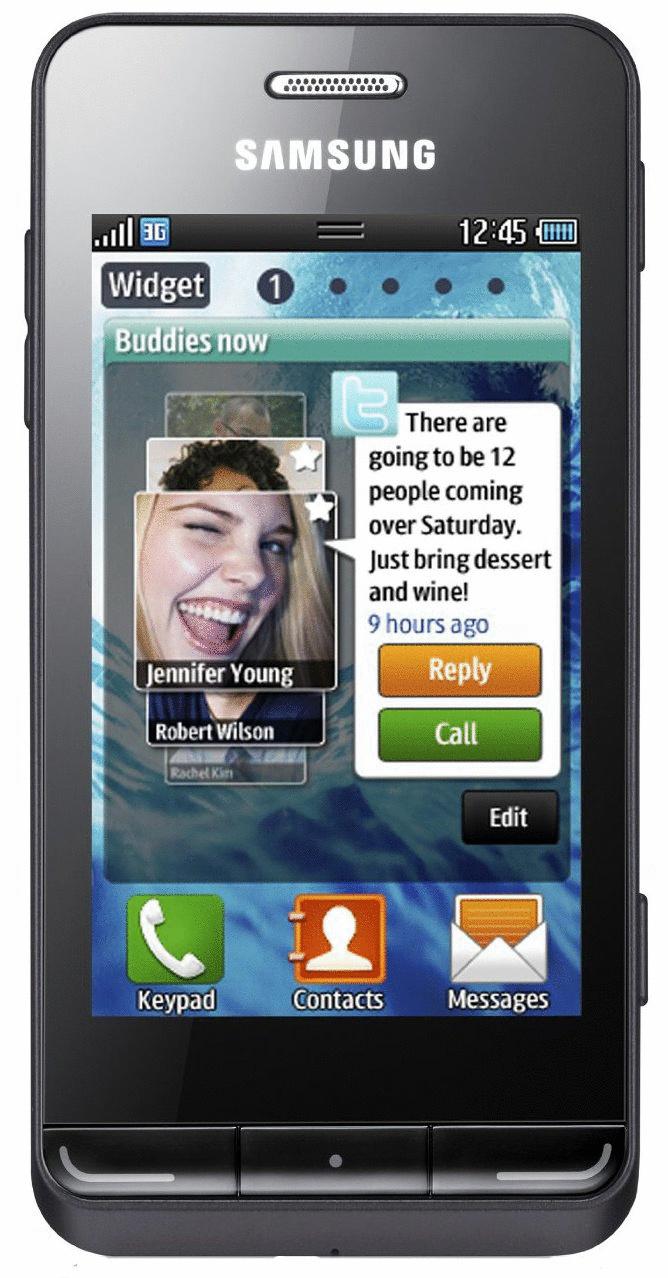 Samsung S7230 Wave 723 midnight black