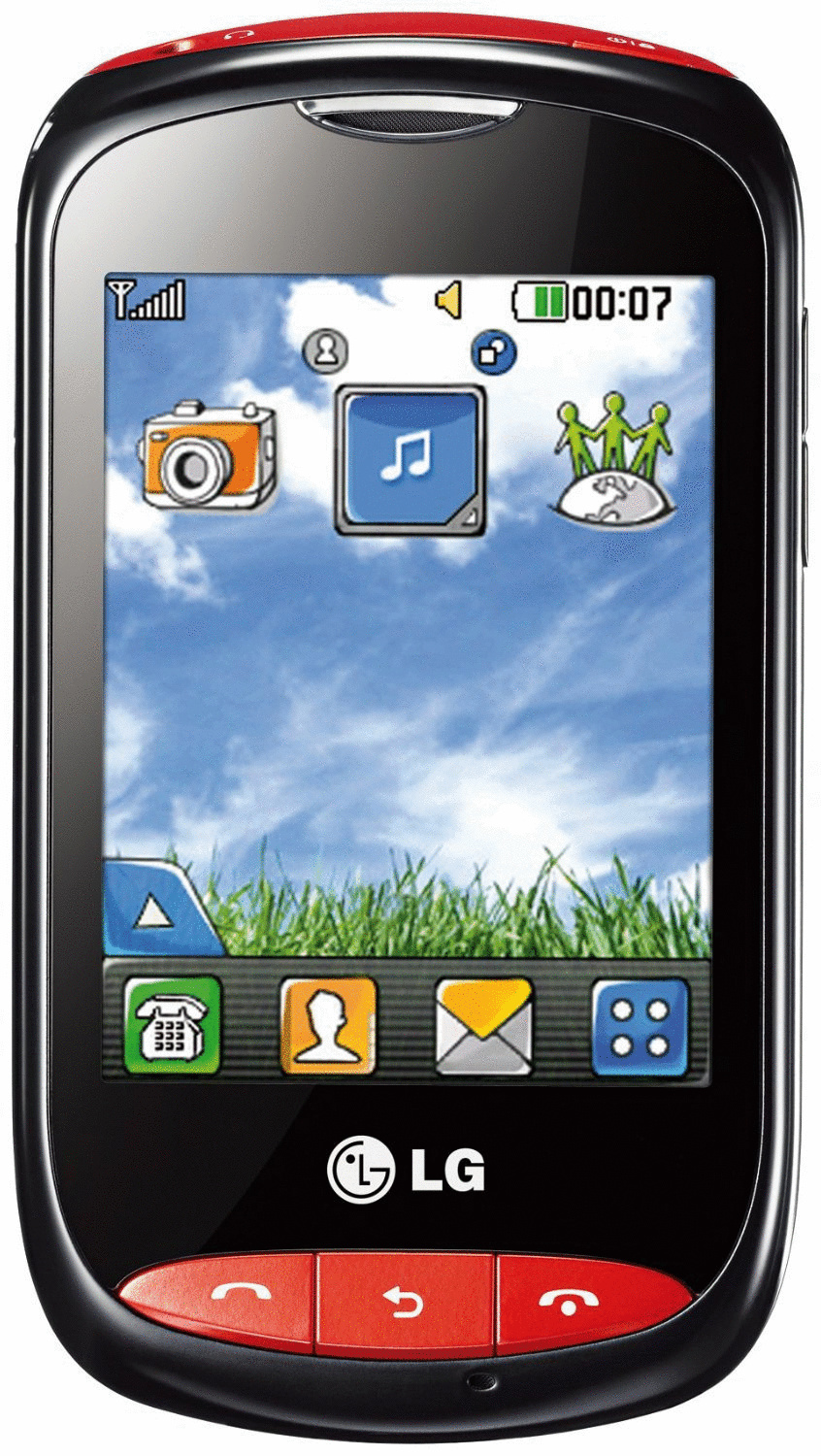 LG T310 Cookie Style schwarz rot