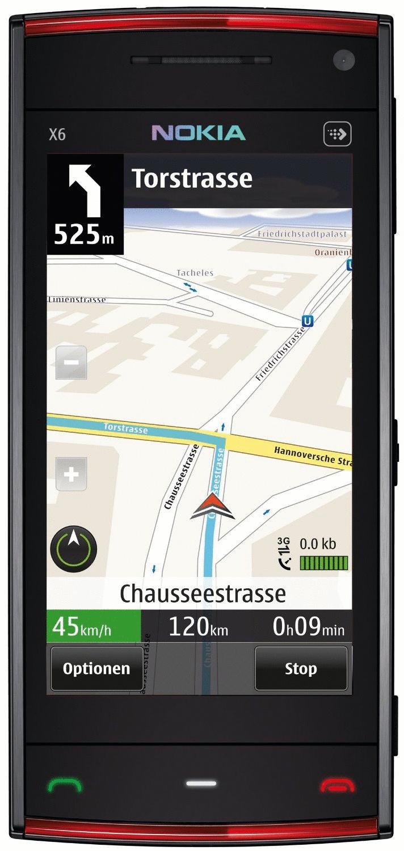 Nokia X6 32GB schwarz rot