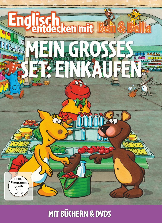 Englisch entdecken mit Ben & Bella: Mein grosses Set - Einkaufen [2 DVDs + Bücher]