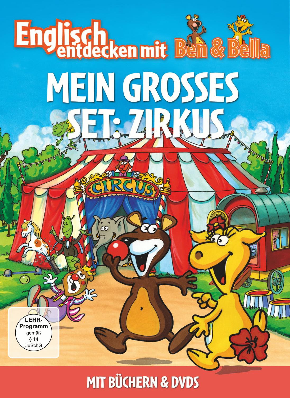 Englisch entdecken mit Ben & Bella: Mein grosses Set - Zirkus [2 DVDs + Bücher]