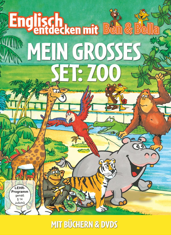 Englisch entdecken mit Ben & Bella: Mein grosses Set - Zoo [2 DVDs + Bücher]