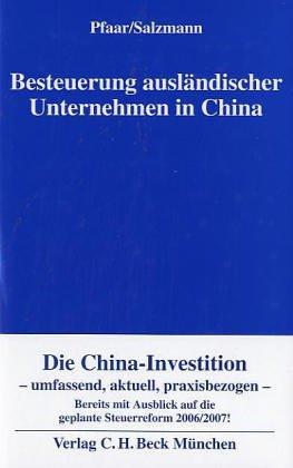 Besteuerung ausländischer Unternehmen in China ...
