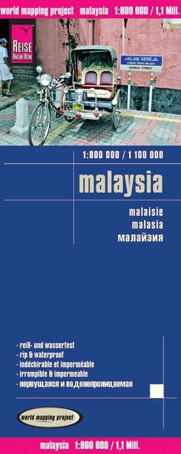 Malaysia 1 : 800 000 / 1 : 1 000 000 - Reise Kn...