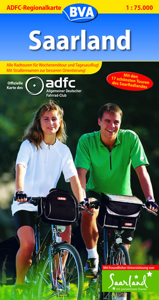 ADFC Regionalkarten, Saarland: Alle Radtouren f...
