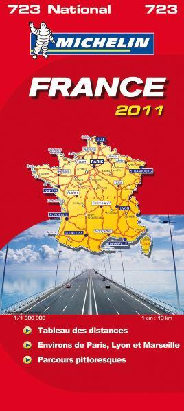 Frankreich: Handatlas: Tableau des distances, Environs de Paris, Lyon et Marseille, Parcours pittoresques (Michelin Nationalkarte) - Michelin