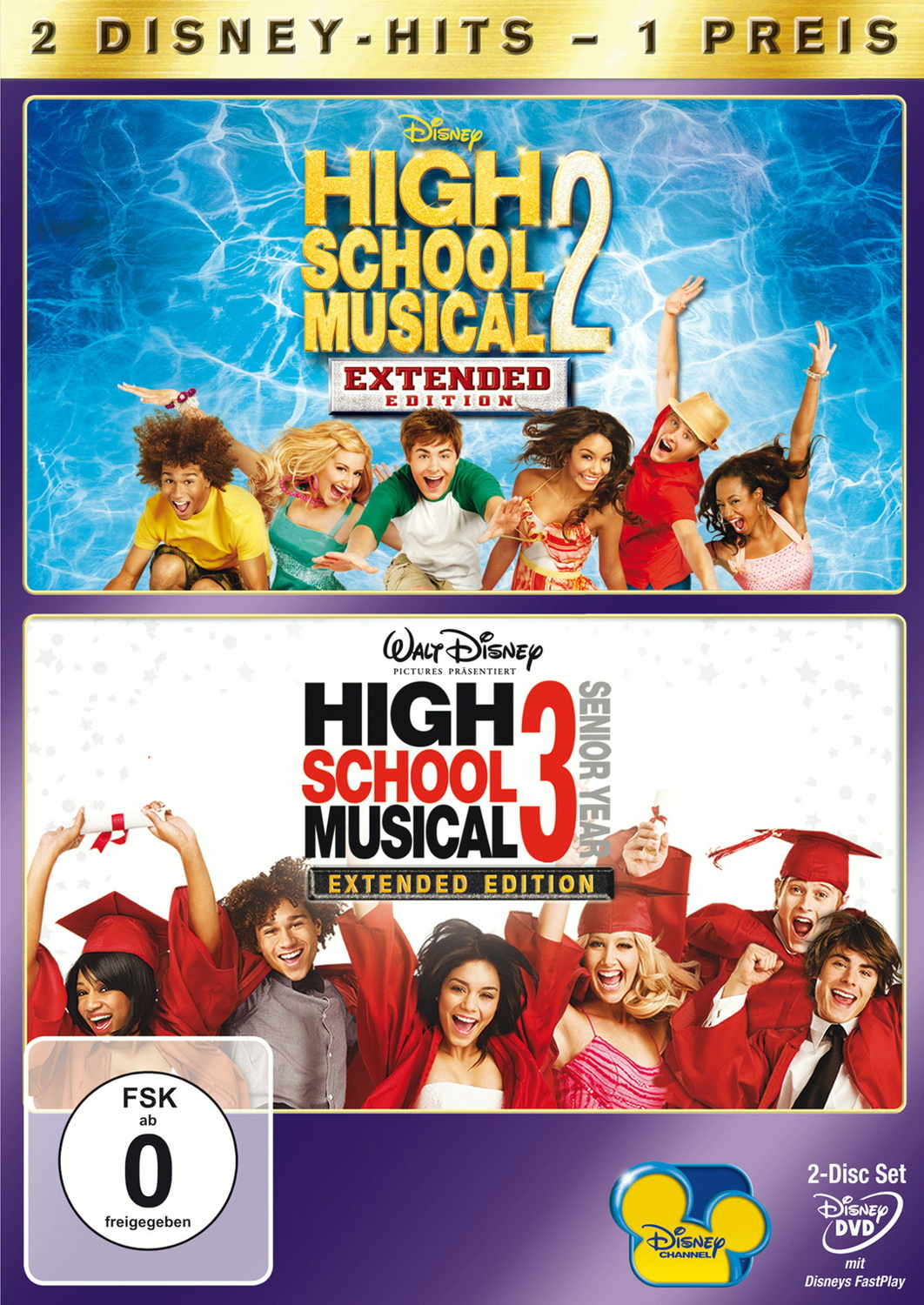 2 Disney-Hits: High School Musical 2+3 [Extended Edition, 2 DVDs]